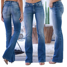 Load image into Gallery viewer, 70s Stretchy Hip-up Jeans
