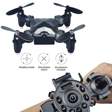 Load image into Gallery viewer, Mini Drone Aircraft Foldable Aerial WiFi Watch Remote Control