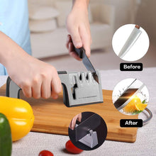 Load image into Gallery viewer, 4 IN 1 KNIFE SHARPENER