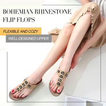 Load image into Gallery viewer, Bohemian Rhinestone Flip Flops