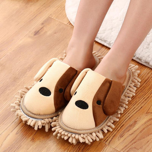 Plushy Feet Microfiber Slipper Mop