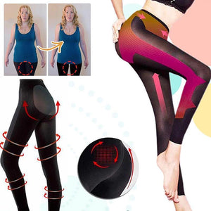 High-waist belly pants, women's tight body shaping pants