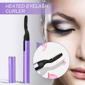 Electric Heated Eyelash Curler with Comb Design