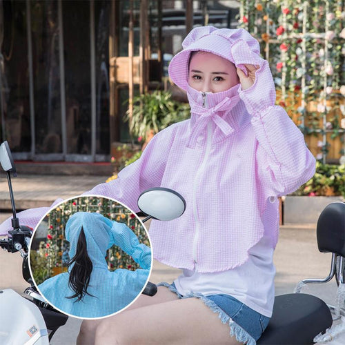 Women New Anti-UV Breathable Ice Silk Sun Coat