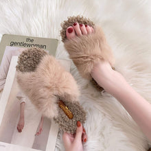 Load image into Gallery viewer, cute fluffy plush slippers