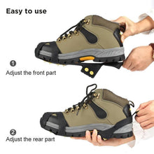 Load image into Gallery viewer, 10 teeth crampons, non-slip shoe cover, 1 pair