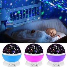Load image into Gallery viewer, Night Light Romantic Starry Sky LED Projector Lamp