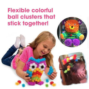 Creative Colorful Ball Clusters