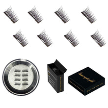 Load image into Gallery viewer, Magnetic False Eyelashes (4 pairs / 8 pieces)