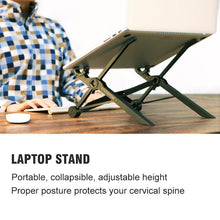 Load image into Gallery viewer, Adjustable and Portable Laptop Stand