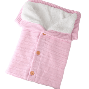 Baby knit button sleeping bag