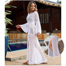 Load image into Gallery viewer, Beach Skirt Long-sleeved Bikini Outer - White