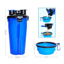 Load image into Gallery viewer, 2-in-1 Pet Travel Water & Food Bottle with Foldable Bowl
