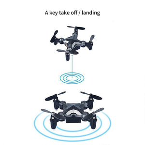 Mini Drone Aircraft Foldable Aerial WiFi Watch Remote Control
