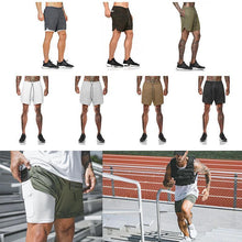 Load image into Gallery viewer, 2 in 1 Secure Pocket Fitness Shorts