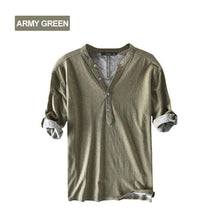 Load image into Gallery viewer, Half Sleeve Henley Shirts