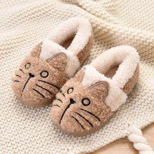 Load image into Gallery viewer, Cute Fluffy Cat Plush Slippers for Kids
