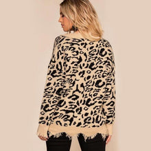 Load image into Gallery viewer, Leopard V-Neck Jumper of Distress