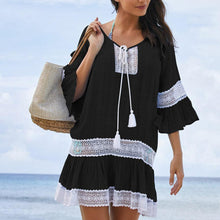 Load image into Gallery viewer, Lace Panel Tunic Dress