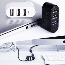 Load image into Gallery viewer, Mini Rotatable 3-Port USB Hub
