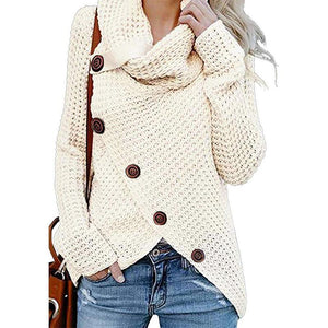 Irregular Ladies High Collar Sweater