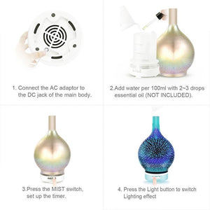 Colorful Glass Aroma Humidifier