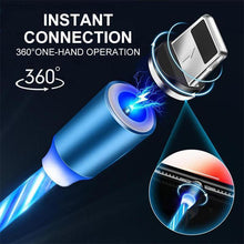 Load image into Gallery viewer, LED Magnetic 3 in 1 USB Charging Cable
