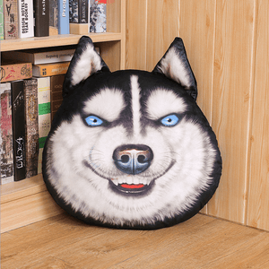 Creative Funny Simulation Husky Pillow