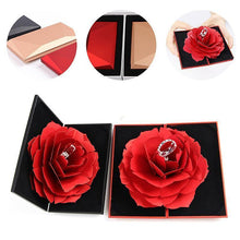 Load image into Gallery viewer, 3D Rose Ring Box