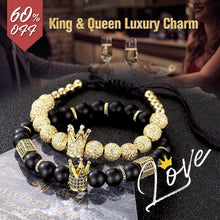 Load image into Gallery viewer, King & Queen Luxury Charm Bracelets, Perfect Gifts