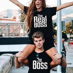 Matching Couple Shirts-The BOSS&The Real BOSS Shirts