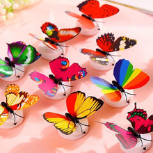 Load image into Gallery viewer, 9 Pcs LED Butterfly Lights Wall Stickers
