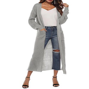 Knitted Acrylic Casual Solid Quilted Coat