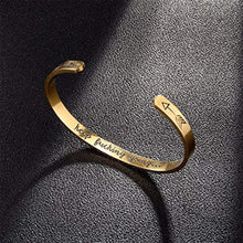 Load image into Gallery viewer, Inner Engraved Inspirational Cuff Bracelet Bangle