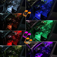 Load image into Gallery viewer, Hirundo Car Interior Lights with Sound Active Function and Wireless Remote Control
