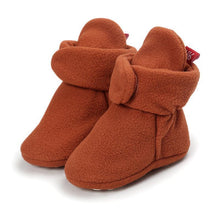 Load image into Gallery viewer, Baby Cozy Fleece Booties with Non Skid Bottom