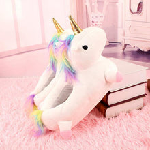 Load image into Gallery viewer, Indoor Warm Lovely Unicorn Slippers