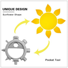 Load image into Gallery viewer, Amenitee 12-in-1 Gear Stainless Steel Sunflower Multi-tool
