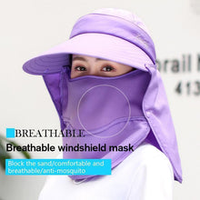 Load image into Gallery viewer, Detachable UPF50 Sun Hat Mask