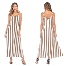 Load image into Gallery viewer, Casual Striped Straps Overhead Summer Dress