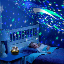 Load image into Gallery viewer, Multifunctional LED Night Light Star Projector Lamp, 5 Sets of Film