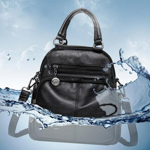 Multifunction leather backpack for women