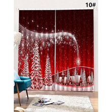 Load image into Gallery viewer, Christmas Window Curtains - 10 patterns