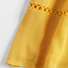 Load image into Gallery viewer, Hollow Out A Line Cami Dress - Yellow