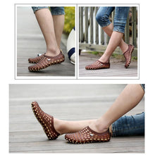 Load image into Gallery viewer, Hirundo Hole Breathable Walking Lightweight Sandals