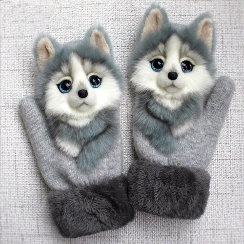 Cute Winter Animal Gloves