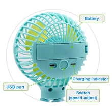 Load image into Gallery viewer, MINI DEFORMABLE PORTABLE FAN