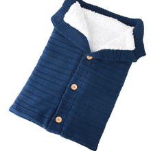 Load image into Gallery viewer, Baby knit button sleeping bag