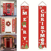 Load image into Gallery viewer, Christmas curtain couplet