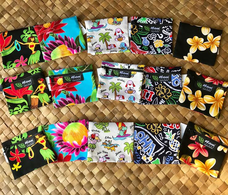 Hawaiian Flora Pouch - Hawaiian Children's Books